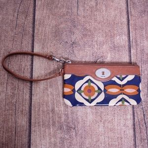 Fossil Small Zipper Pouch Clutch Wristlet